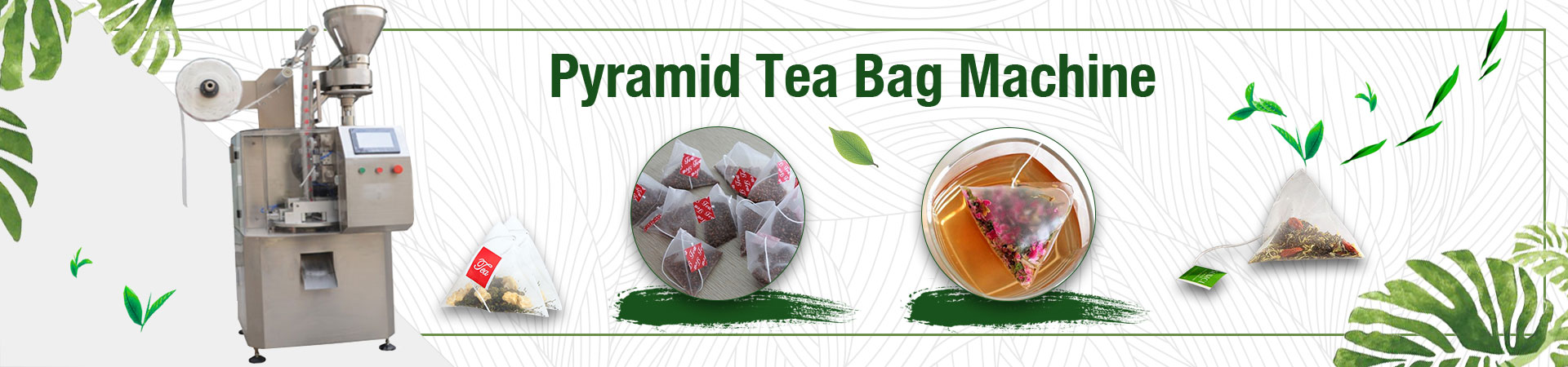 Pyramid tea bag machine