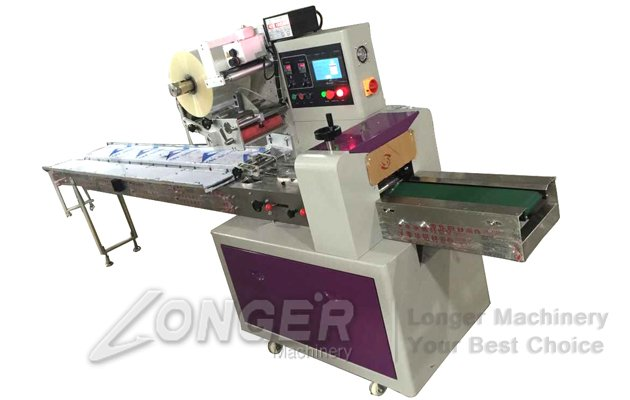 Pillow Type Small Cakes Candies Packaging Machine For Sale