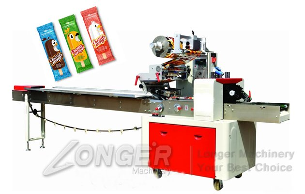 LGZS450 Ice Lolly Packaging Machine|Stick Ice Cream Popsicle Packing Machine
