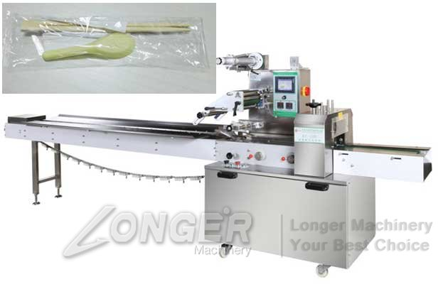 Spoon|Knife|Fork Flow Wrap Packing Machine
