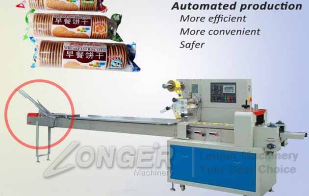 Automatic Biscuit Packaging Machine|Pillow Type Cookies Wrapping Machine