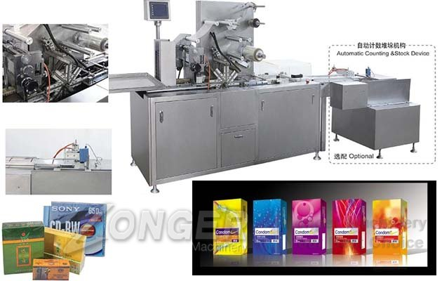 Condom Packaging Machine|Box Cellophane Wrapping Machine LGBZ-200A
