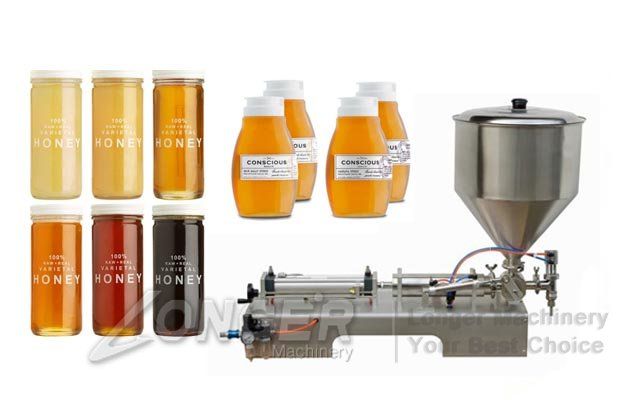 Semi-auto Honey Bottle Piston Filling Machine|Liquid Paste Bottling Machine