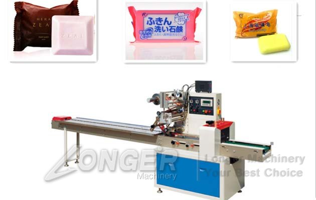 Flow Wrap Machine For Soap|Pillow Type Soap Packing Machine