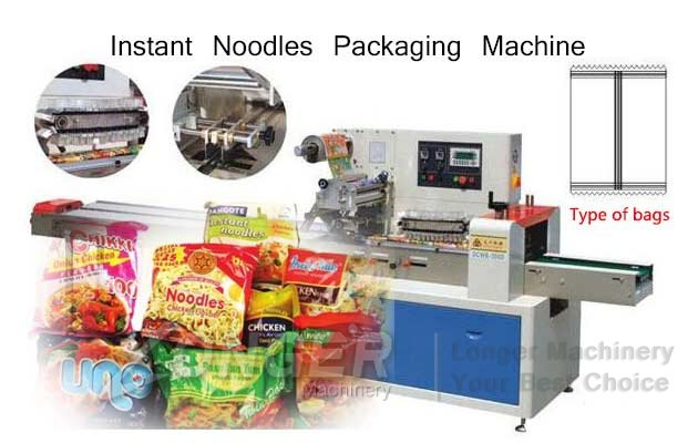 LGZS250 Pillow Flow Instant Noodles Packaging Machine