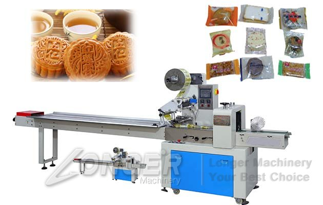 Automatic Mooncake Packaging Sealing Machine|Cake Flow Wrapping Machine