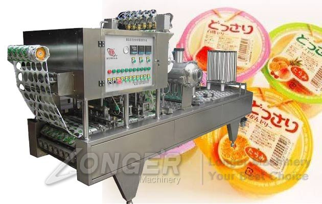 Automatic Pudding Jelly Yogurt Cup Ice Cream Filling Sealing Machine
