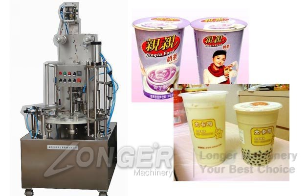 Rotary Liquid Cups Filling Sealing Machine LG-900J|Cup Filling Machine