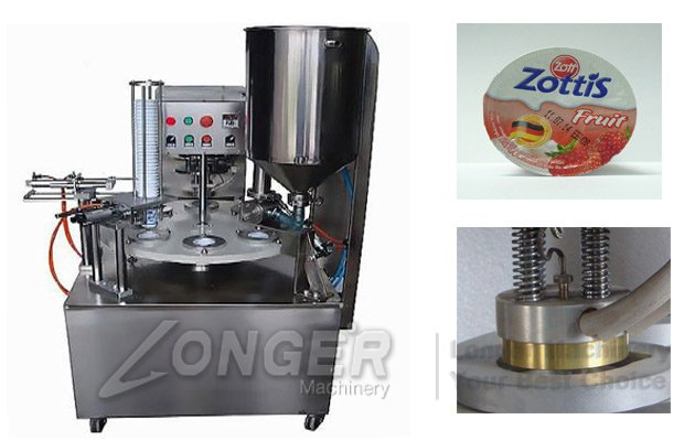 Rotary Type Automatic Cup Filling Sealing Machine|Cup Filling Machine