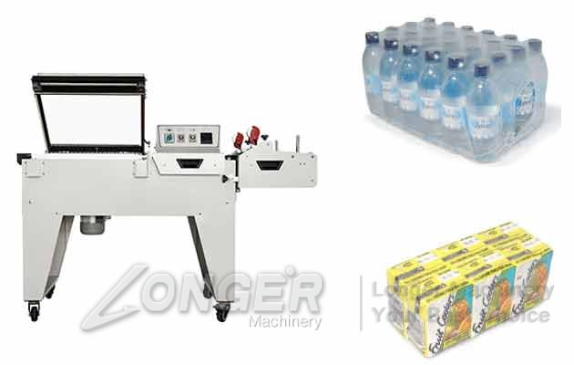 Semi-automatic Bottle Box Shrink Packaging Machine