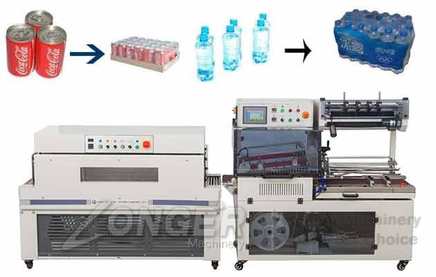 Automatic L-type High Speed Shrink Packaging Machine|Bottles Shrink Wrapping Machine