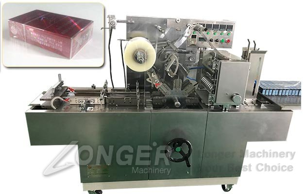 LGBTB-300A Automatic Cellophane Film Packaging Machine|Box Cellophane Over Wrapping Machine