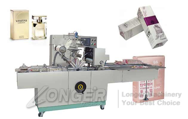 LGBTB-300C Perfume Box Packing Machine|Automatic Cellophane Box Over Wrapping Machine