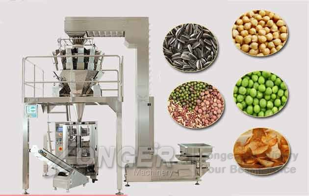 Automatic Cocoa Beans Weighing Packaging Machine|Chickpeas Pouch Filling Machine