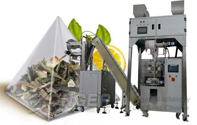 Pyramid Tea Bag Packaging Machine With Inner and Outer Envelope