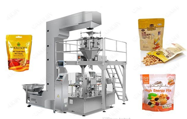 Automatic Dried Fruit Pouch Packaging Premade Bag Packing Equipment