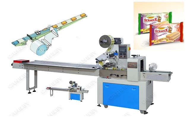 Multi-purpose Wafer Biscuit Flow Packing Machine For Sale