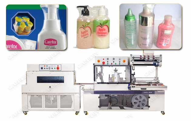 Shampoo Bottle Shrink Wrap Packaging Machine Chinese Supplier