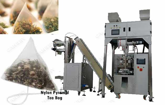 Automatic Nylon Pyramid Tea Bag Packaging Machine|Triangular Tea Bag Making Machine Price