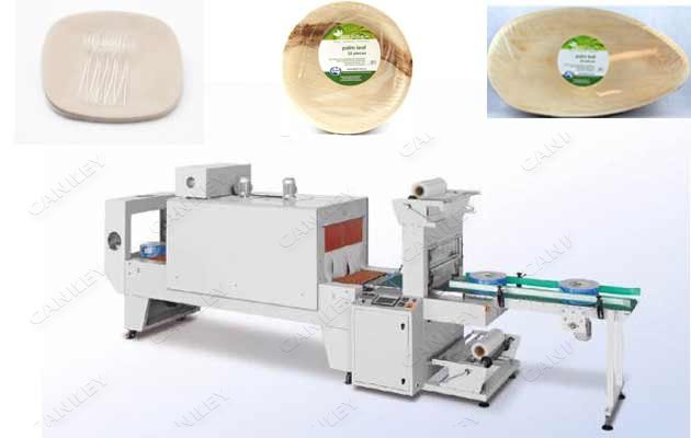 Shrinkage Wrap Machine For Leaf Plate|Tray Shrink Film Packaging Machine