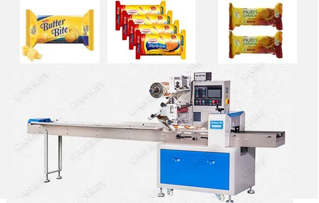 Automatic Biscuit Flow Packaging Machine|Biscuit Pillow Type Packer Price