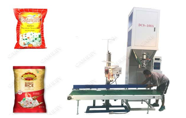 Rice Packaging Machine|Grains Bags Weighing Filling Sealing Machine
