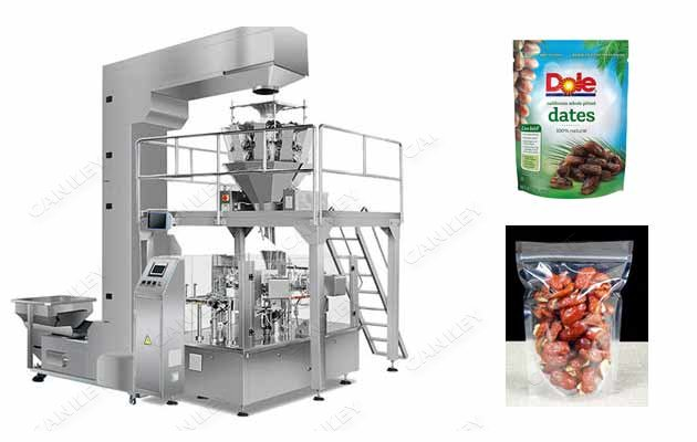 Automatic Pouch Dates Packing Premade Bag Filling Machine