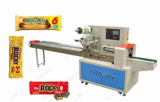 Automatic Granola Chocolate Bar Pillow Type Flow Wrapping Machine