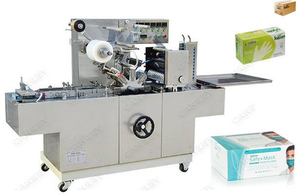 Automatic Face Mask Box Cellophane Packing Machine On Sale