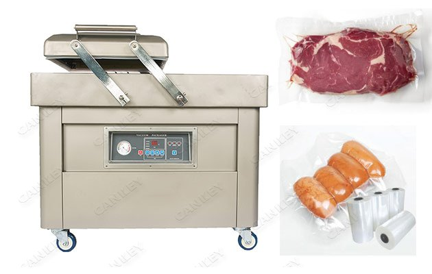 Commercial Meat Sausage Double Chamber Vacuum Packing Machine