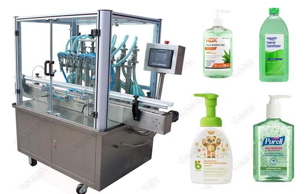 Automatic Hand Sanitizer Gel Filling Machine|Liquid Soap Bottling Machine