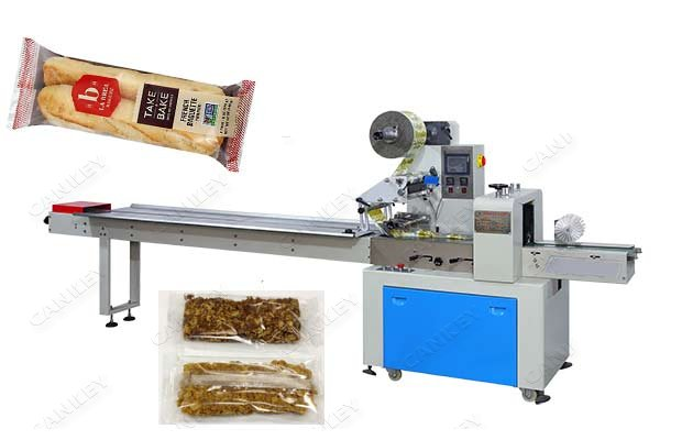 Bread Flow Packaging Machine|Automatic Flow Wrap Machine for Bakery