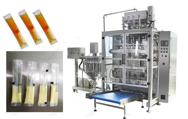 Multi-lane Liquid Paste Sachet Filling Packaging Machine