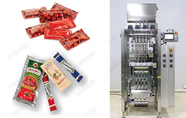 Multi Lanes Tomato Sauce Sachet Filling Machine With 4 Lanes