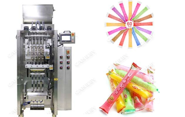 Ice Popsicle Liquid Bags Filling Machine With Multi Lanes