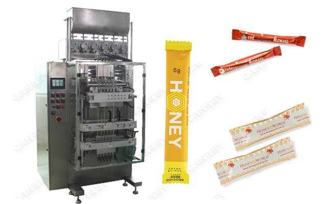 Honey Sachet Filling Packaging Machine With 4 or 6 Lanes