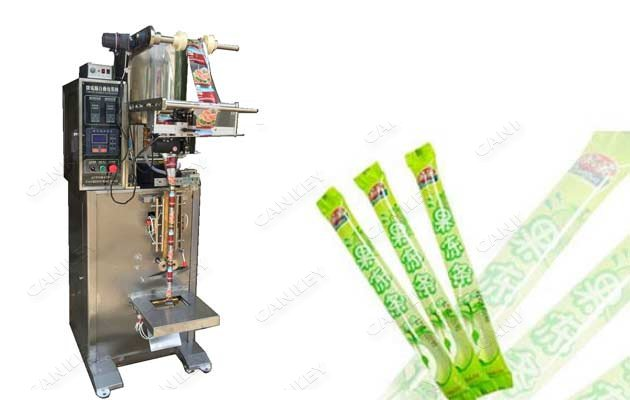 Ice Popsicle Liquid Strip Filling Sealing Machine Single Lane