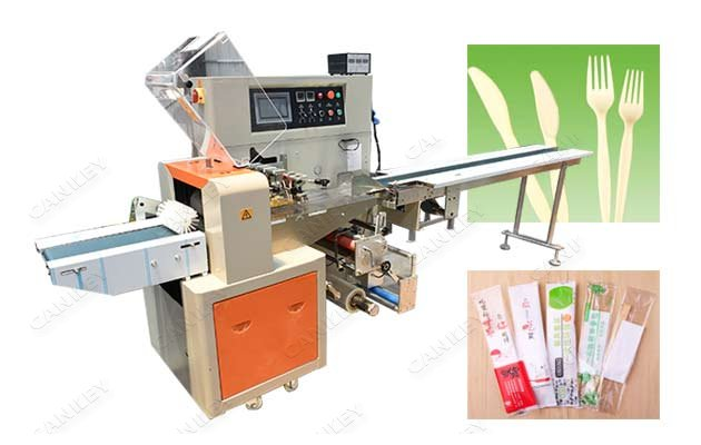 Disposable Tableware Horizontal Flow Wrapping Machine