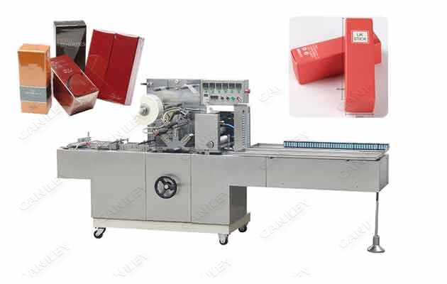 300B Cosmetic Lipstick Box Over Wrapping Machine For Sale