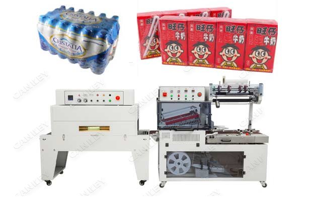 Automatic Shrink Wrapping Machine For Yogurt Box