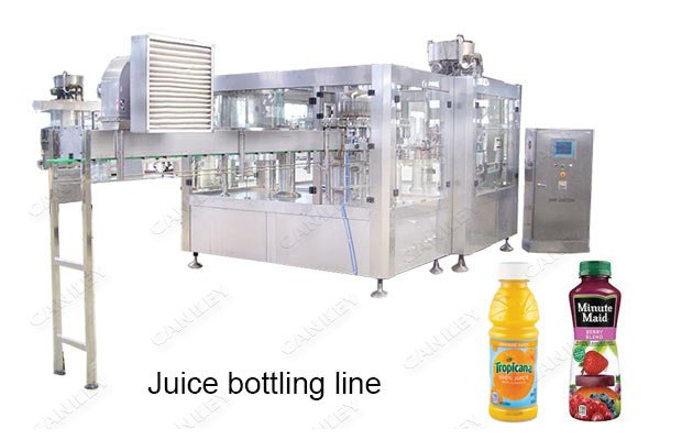 Automatic Liquid Juice Bottle Filling Packaging Line