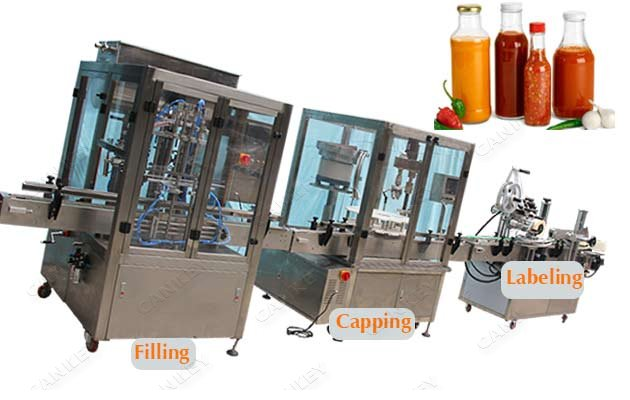 Automatic Peanut Butter Tomato Paste Bottle Filling Plant