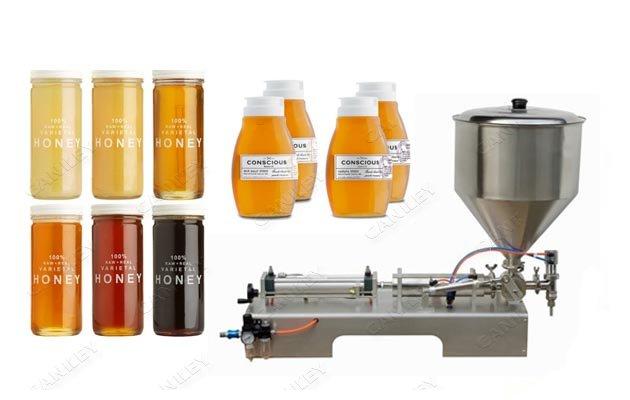 Semi-auto Honey Bottle Piston Filling Machine|Liquid Paste Bottling Machine