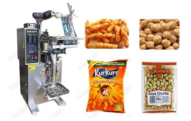 Vertical Namkeen Kurkure Packaging Machine|Soya Chunks Filling Sealing Machine