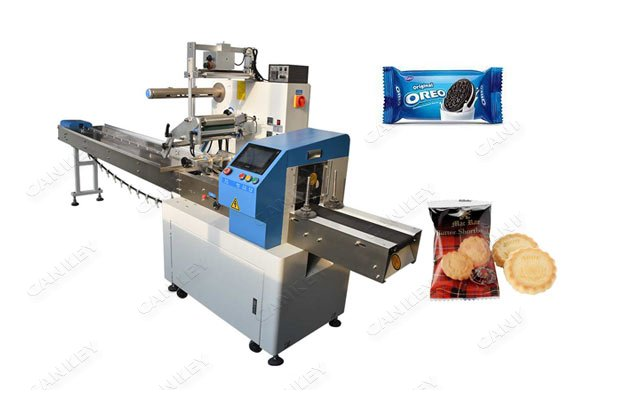 Automatic Bakery Flow Wrapping Biscuit Packaging Machine For Sale