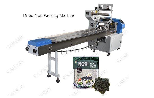 Dried Seaweed Nori Snack Flow Packaging Machine