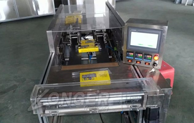 semi automatic cellophane overwrapping machine