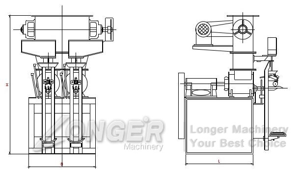 structure of cement powder packing machine