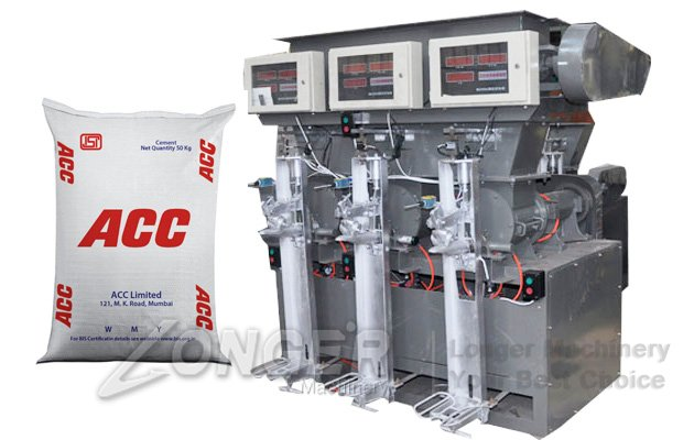 Three-mouth Automatic Cement Packaging Machine LG-3