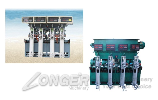 Four Mouths Cement Packaging Machine High Efficiency LG-4
